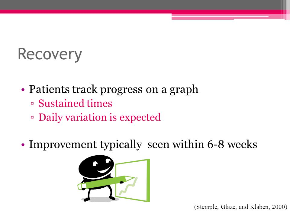 Recovery Patients track progress on a graph