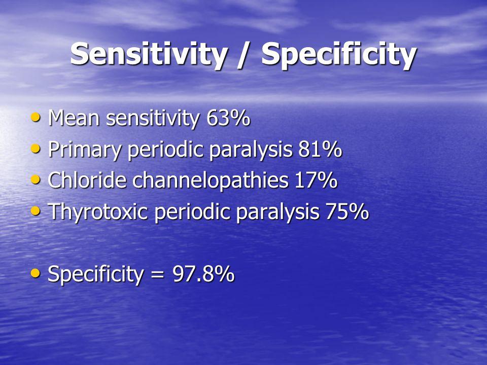 Sensitivity / Specificity
