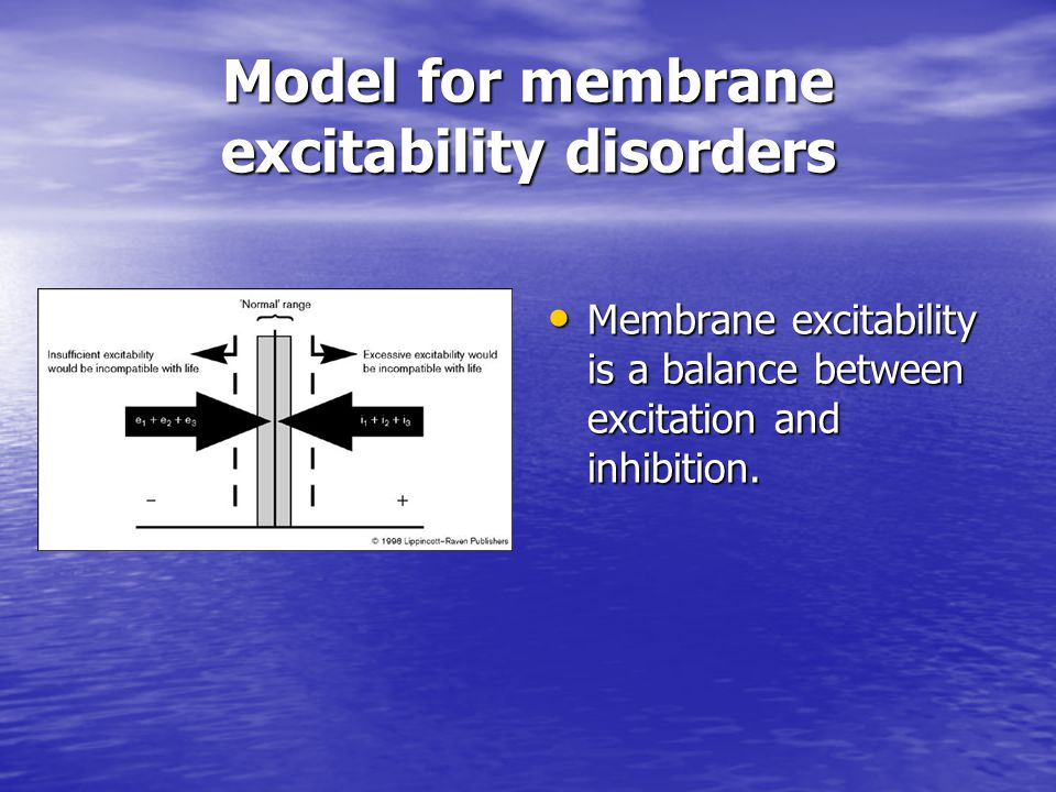 Model for membrane excitability disorders