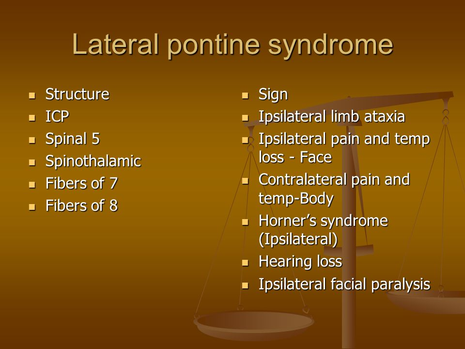 Lateral pontine syndrome