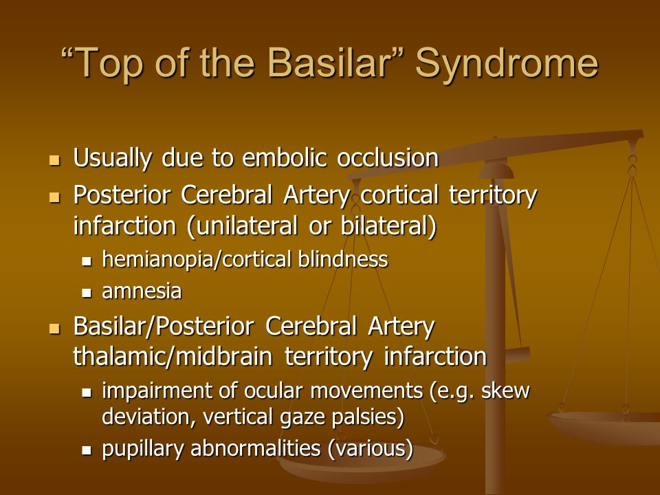 Top of the Basilar Syndrome