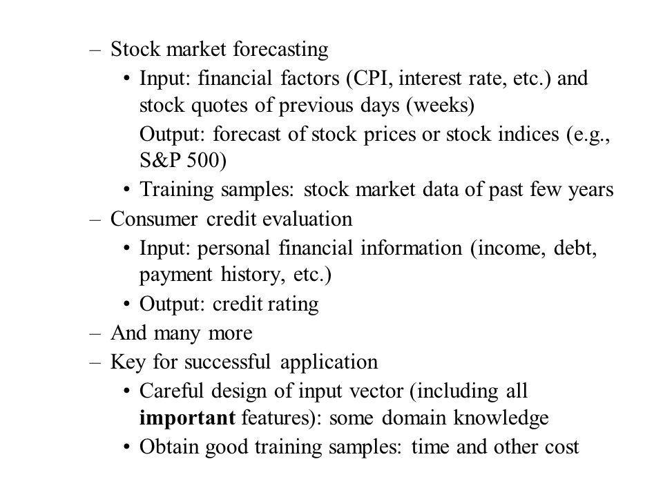 Stock market forecasting