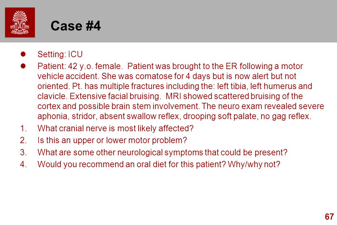 Case #4 Setting: ICU.