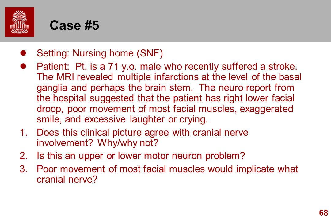 Case #5 Setting: Nursing home (SNF)