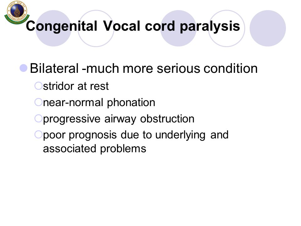 Congenital Vocal cord paralysis