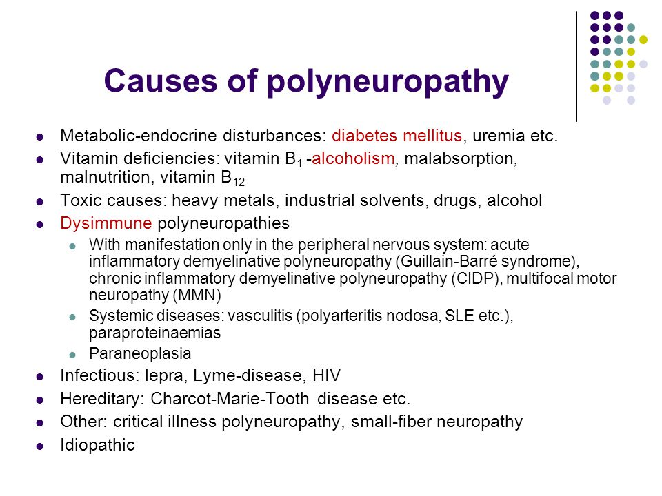 Causes of polyneuropathy