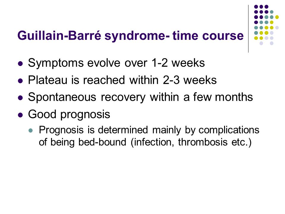 Guillain-Barré syndrome- time course