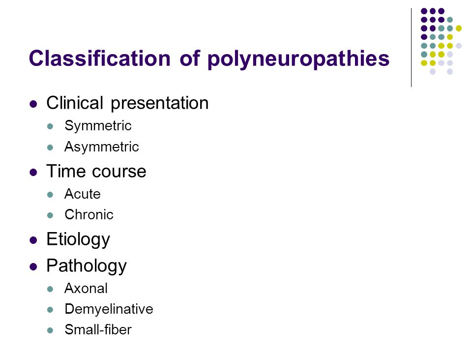 Classification of polyneuropathies