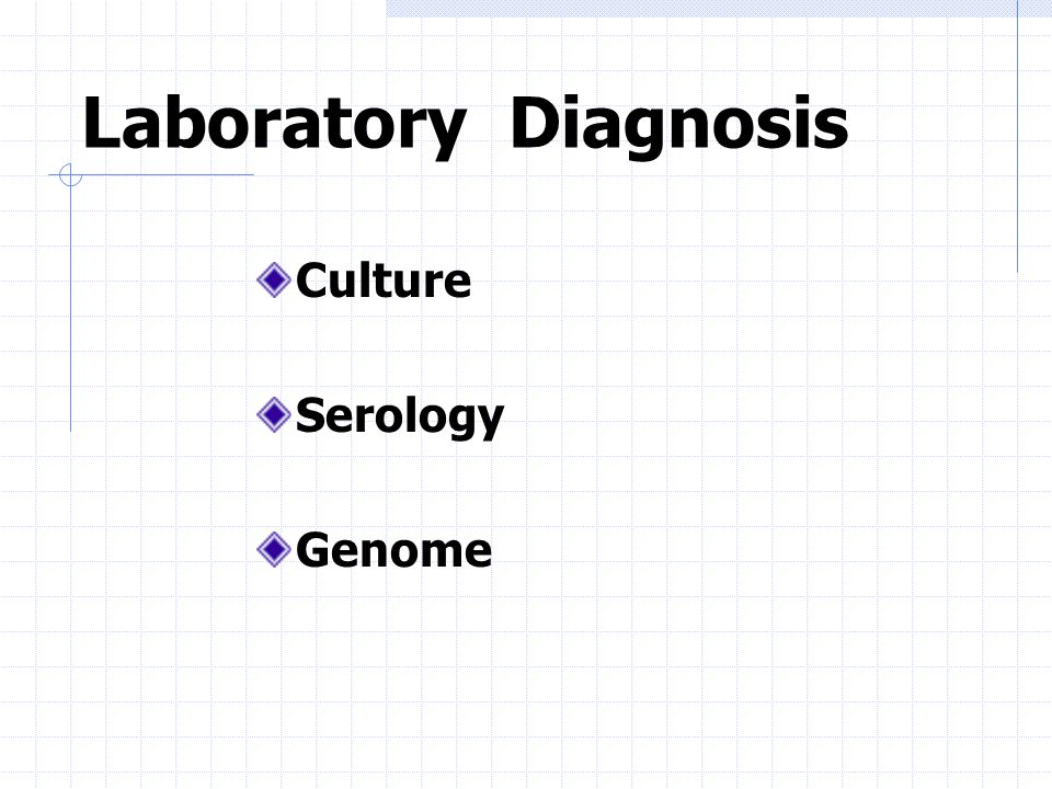 Laboratory Diagnosis Culture Serology Genome