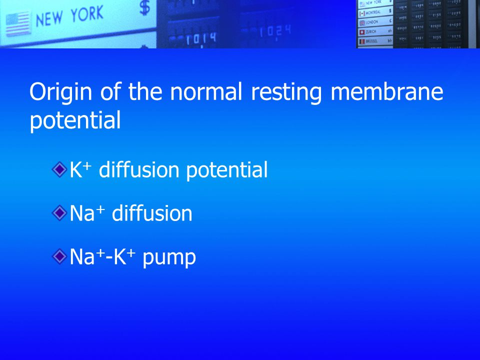 Origin of the normal resting membrane potential