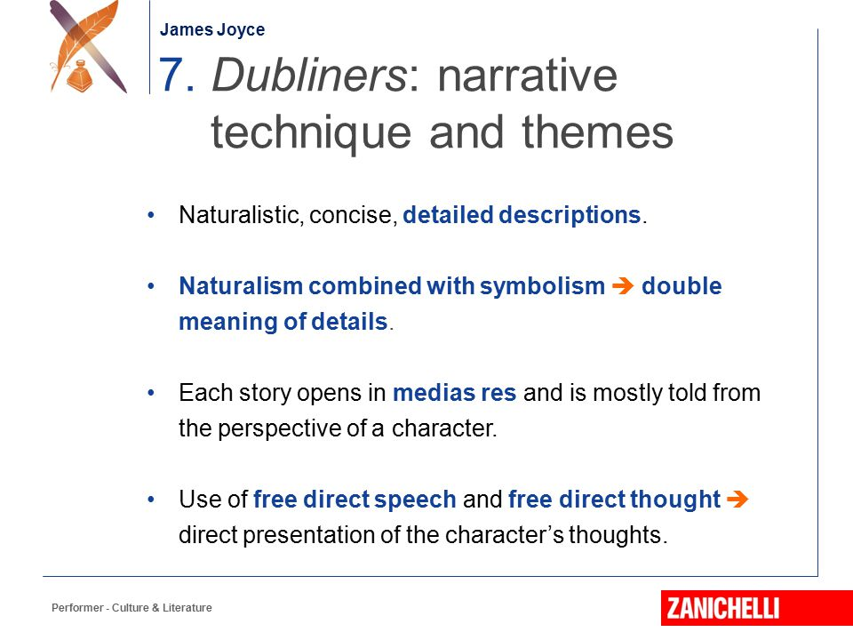 7. Dubliners: narrative technique and themes