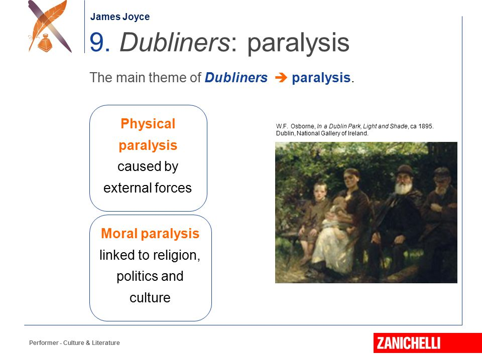 9. Dubliners: paralysis The main theme of Dubliners  paralysis.