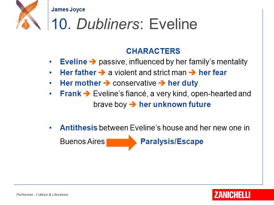 10. Dubliners: Eveline CHARACTERS