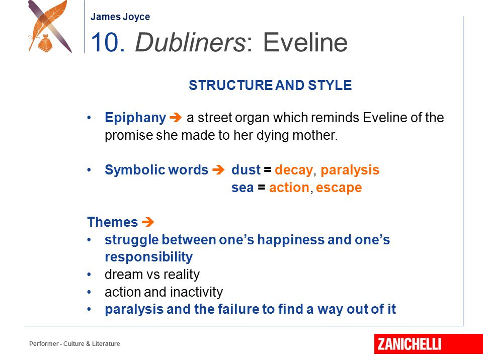 10. Dubliners: Eveline STRUCTURE AND STYLE