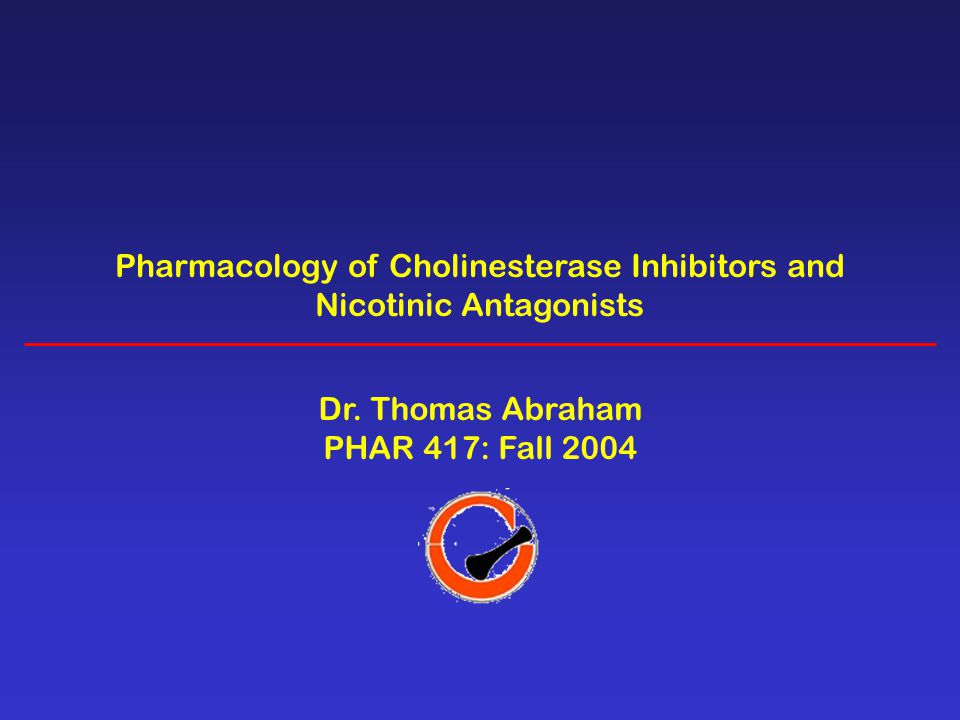 Pharmacology of Cholinesterase Inhibitors and Nicotinic Antagonists