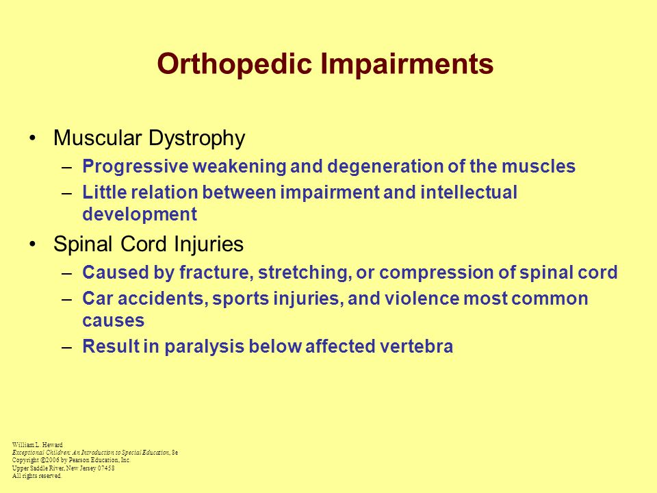 Orthopedic Impairments