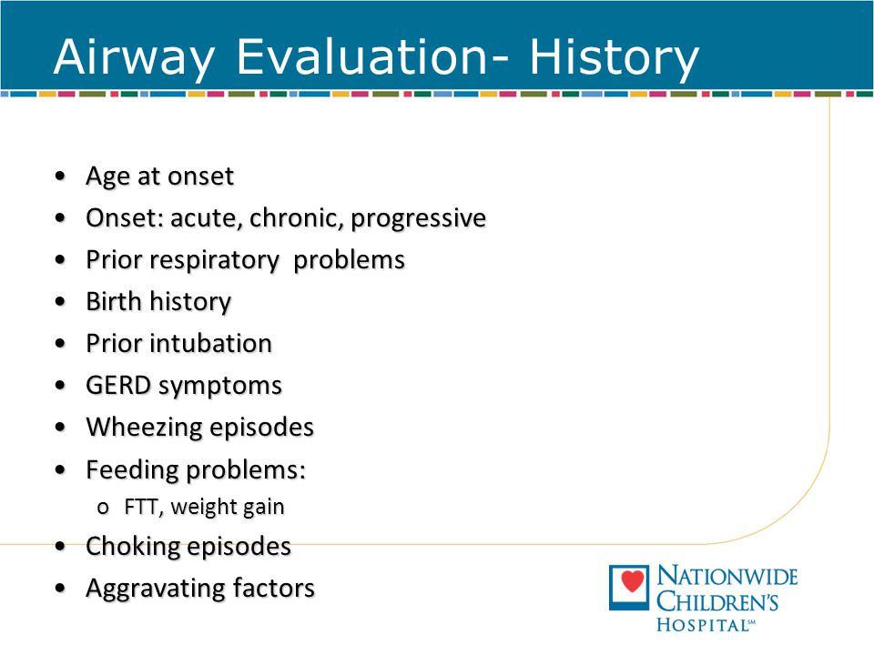 Airway Evaluation- History