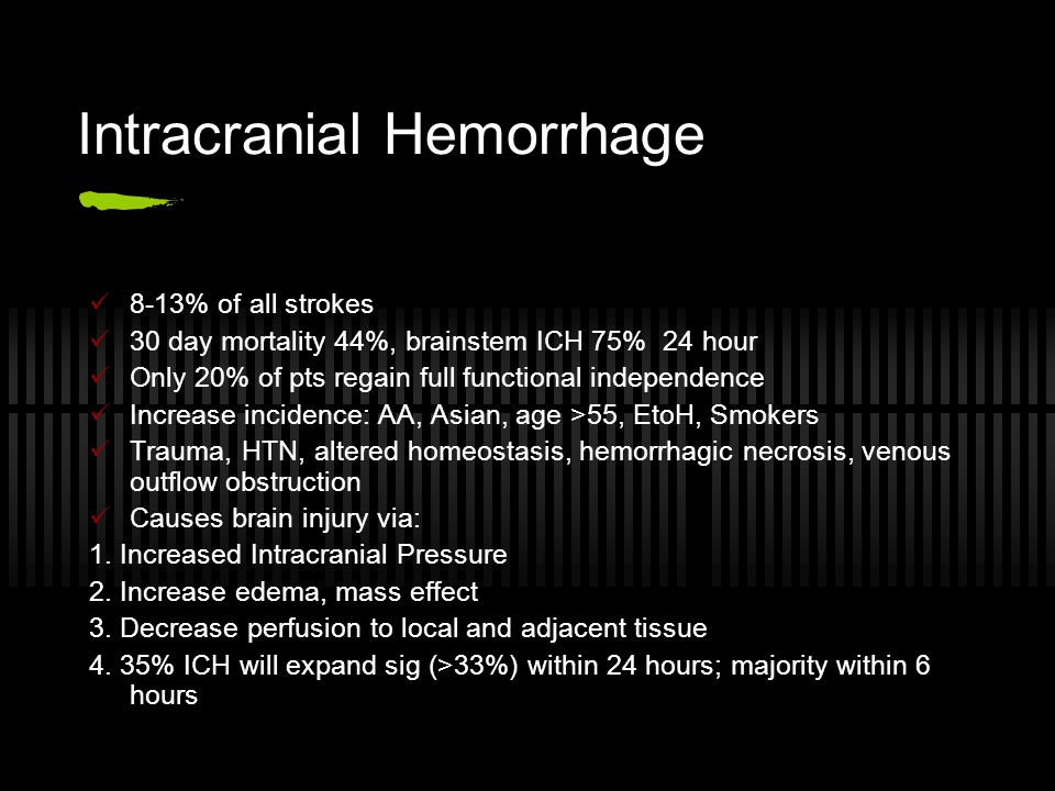 Intracranial Hemorrhage
