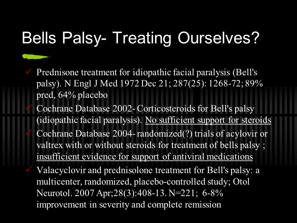 Bells Palsy- Treating Ourselves