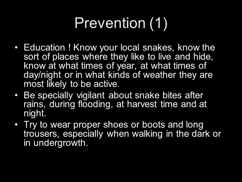 Prevention (1)