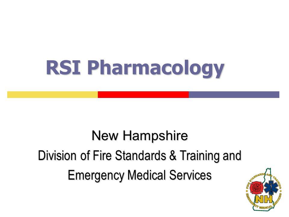 RSI Pharmacology New Hampshire