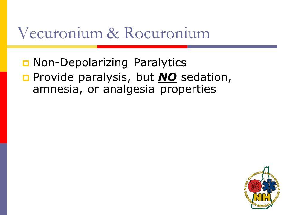 Vecuronium & Rocuronium