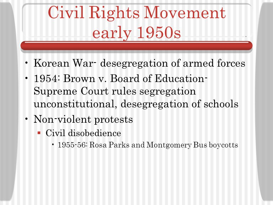 Civil Rights Movement early 1950s