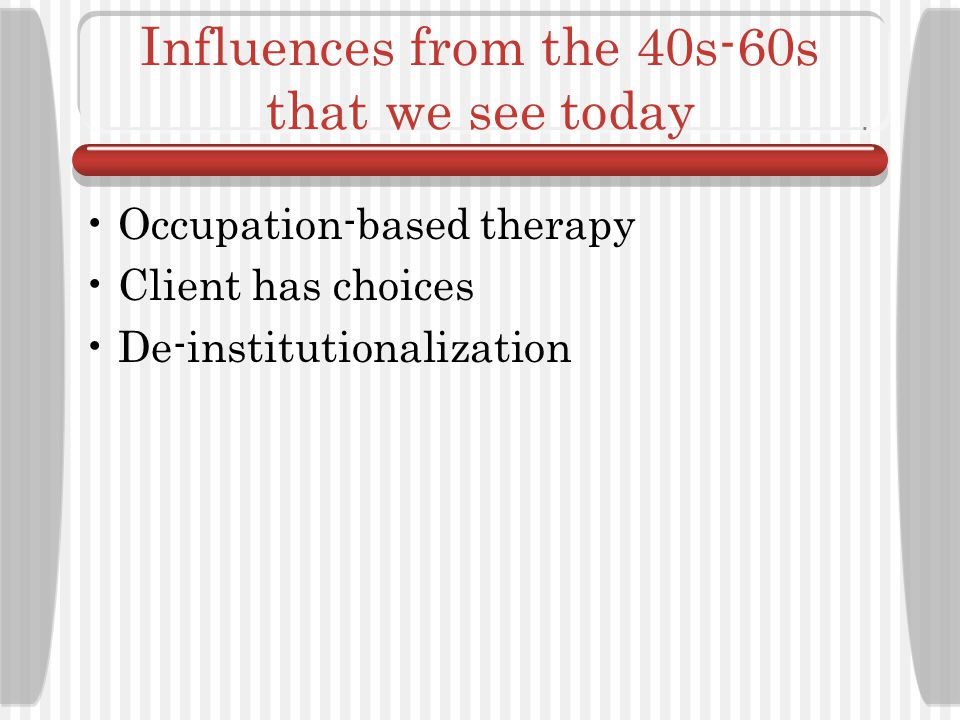 Influences from the 40s-60s that we see today