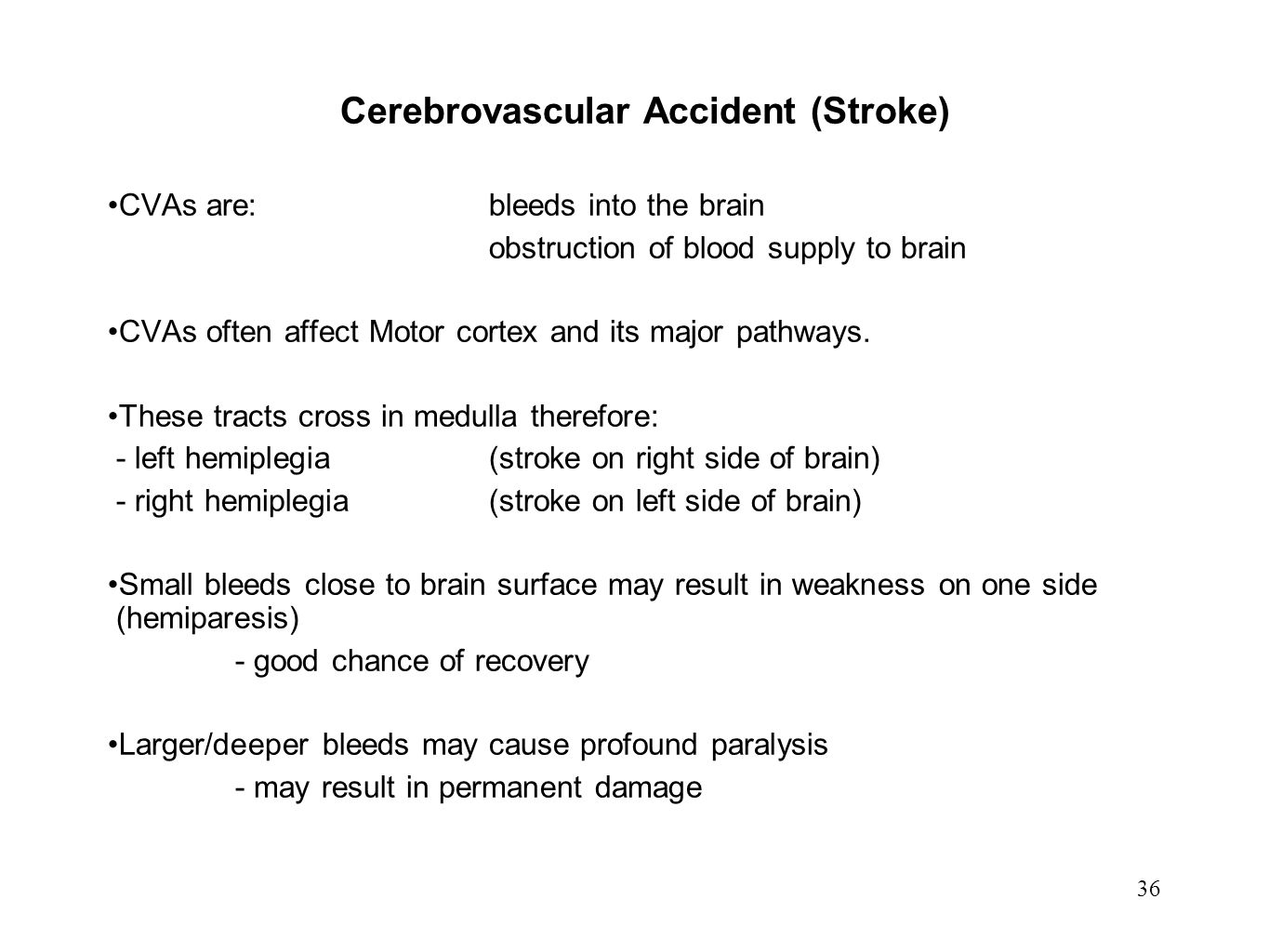 Cerebrovascular Accident (Stroke)