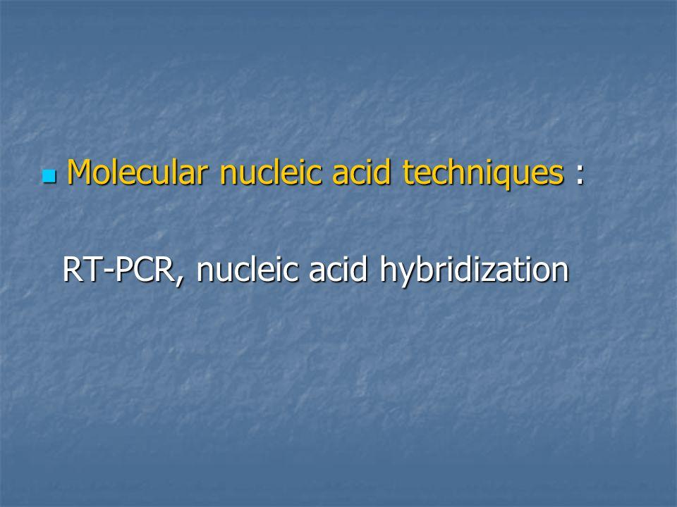 Molecular nucleic acid techniques :