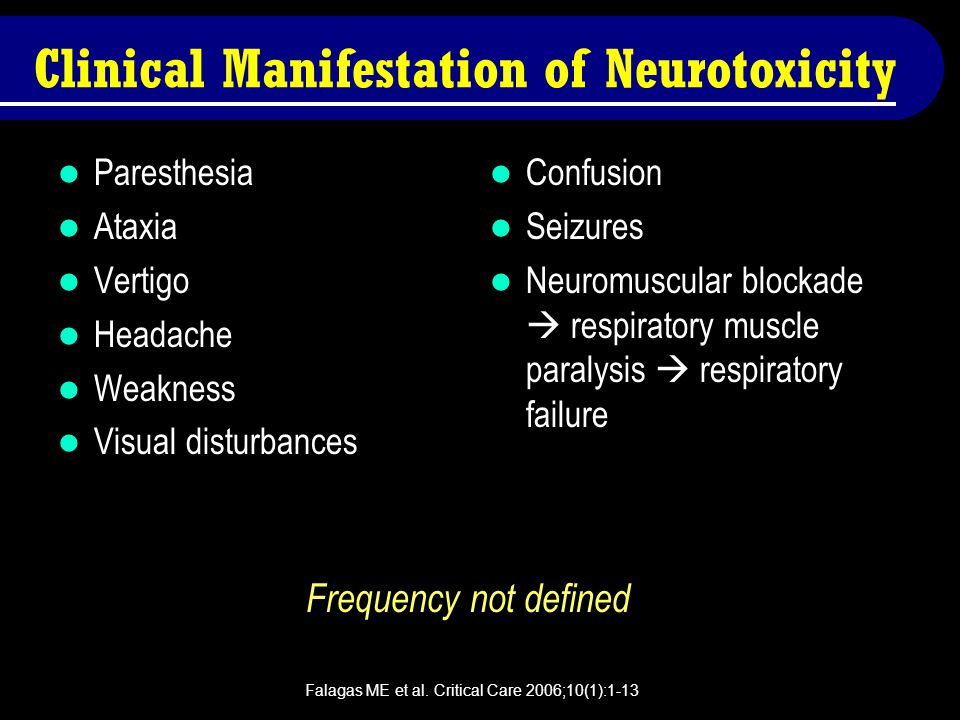 Clinical Manifestation of Neurotoxicity