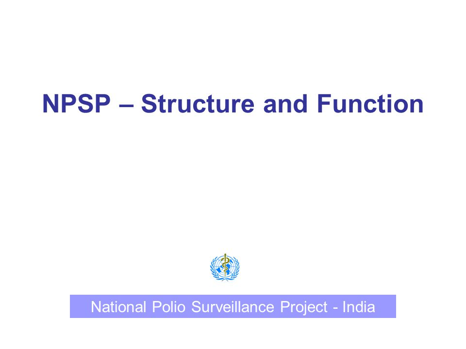 NPSP – Structure and Function