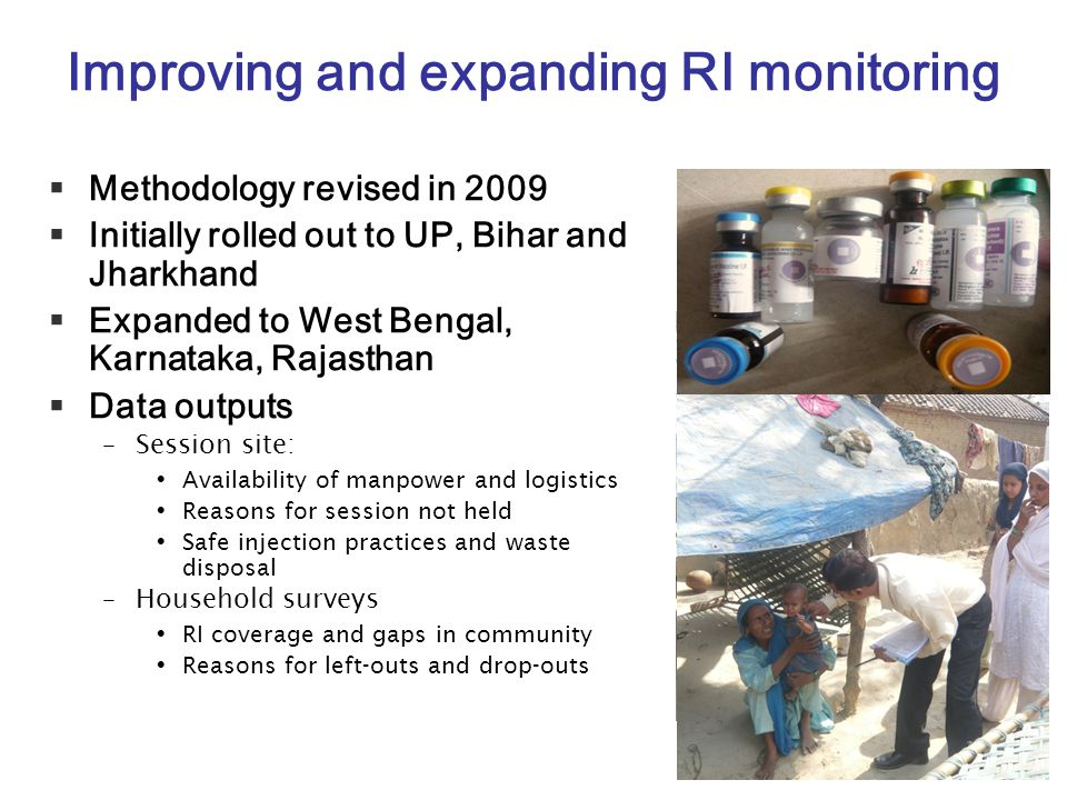 Improving and expanding RI monitoring