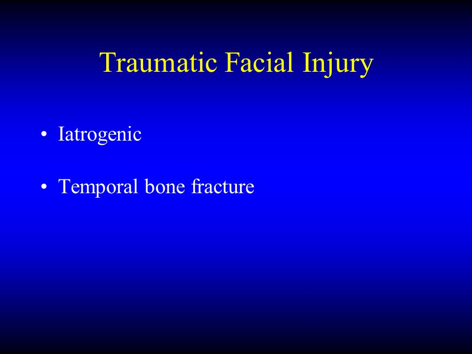 Traumatic Facial Injury