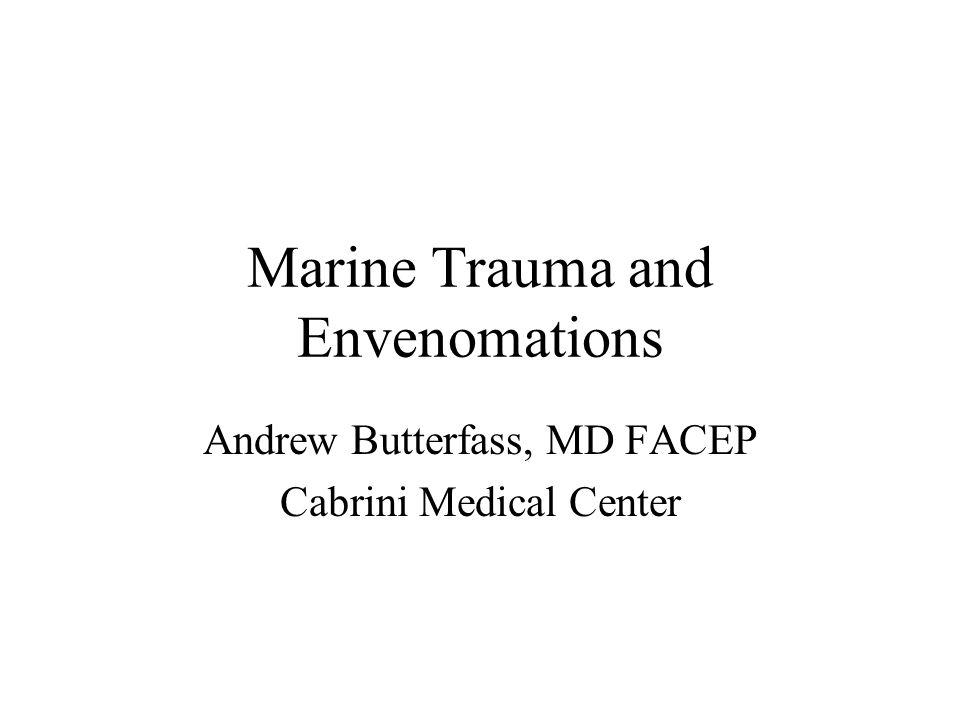 Marine Trauma and Envenomations