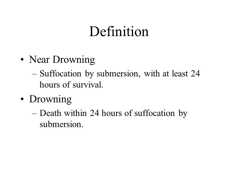 Definition Near Drowning Drowning