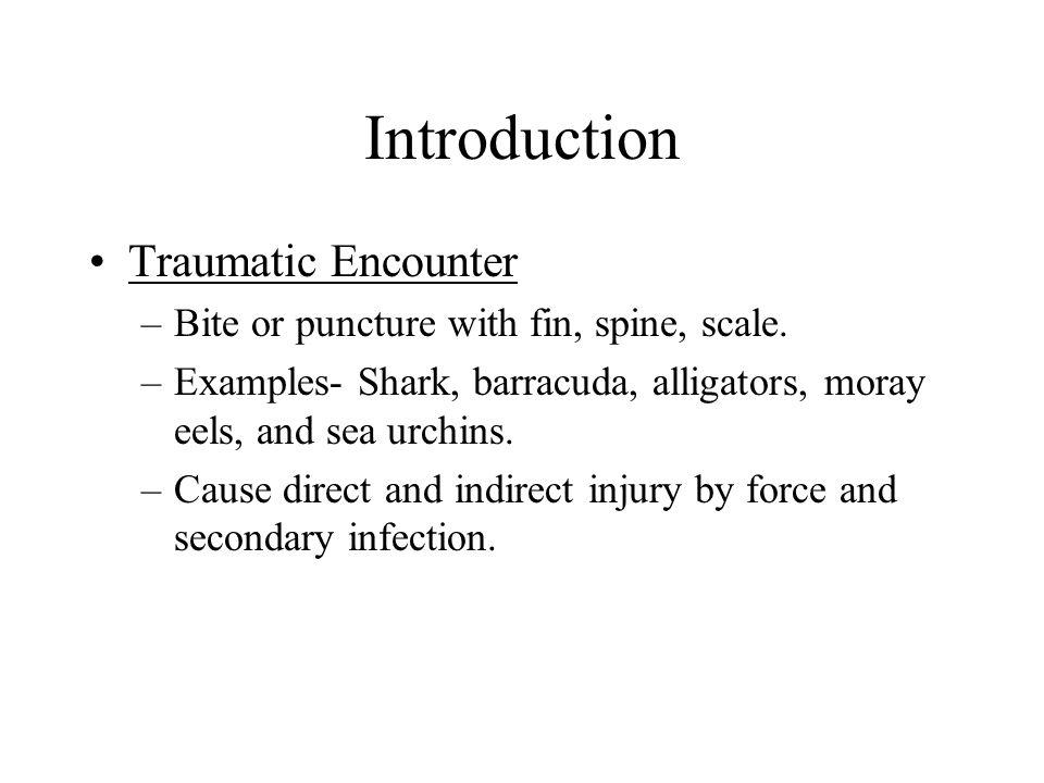 Introduction Traumatic Encounter