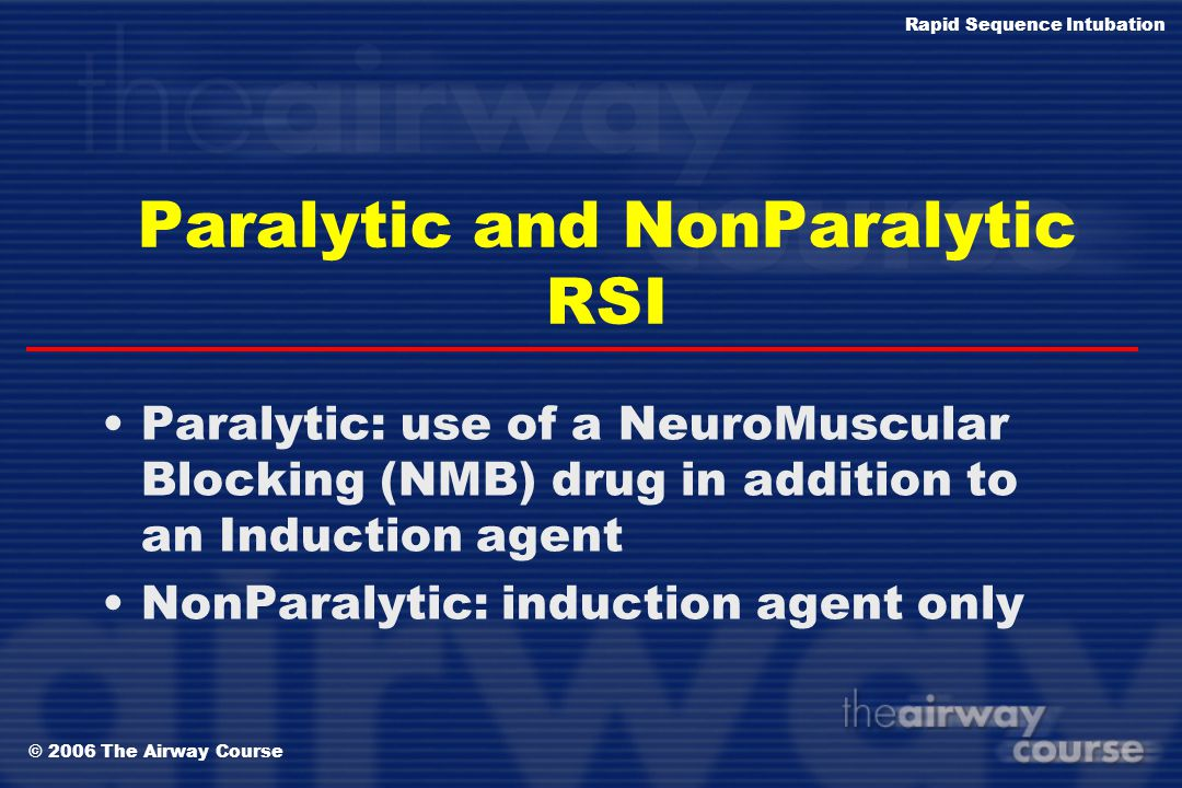 Paralytic and NonParalytic RSI