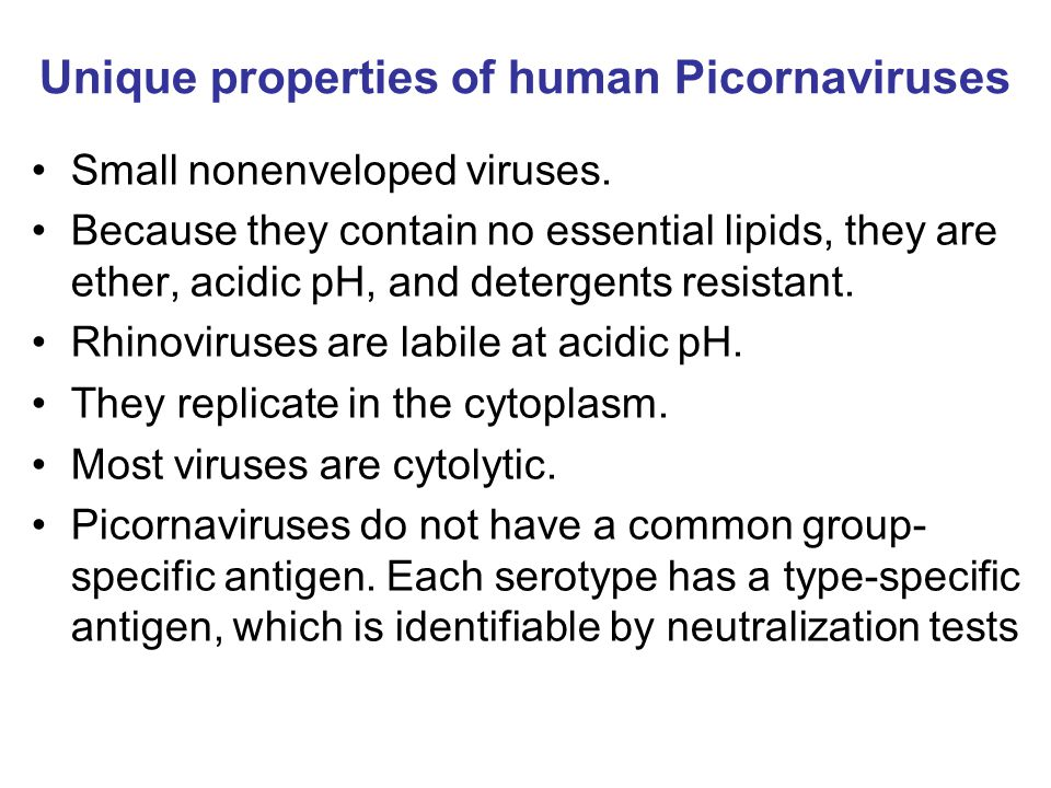 Unique properties of human Picornaviruses