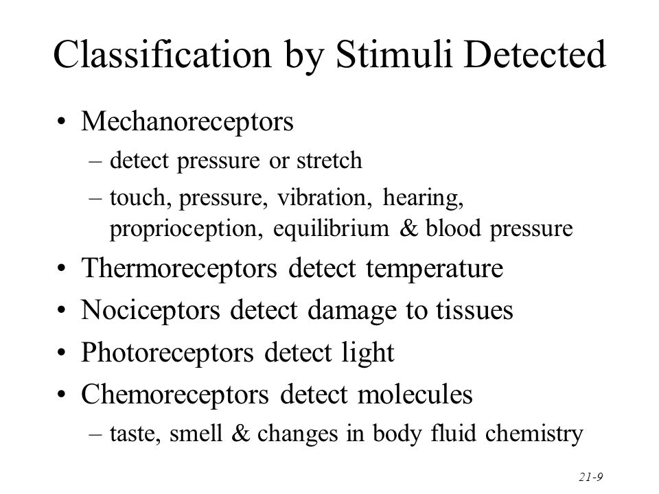 Classification by Stimuli Detected