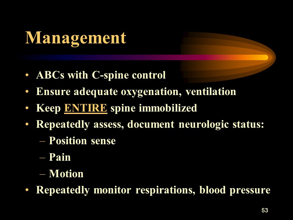 Management ABCs with C-spine control