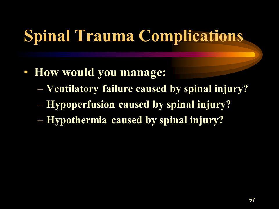 Spinal Trauma Complications
