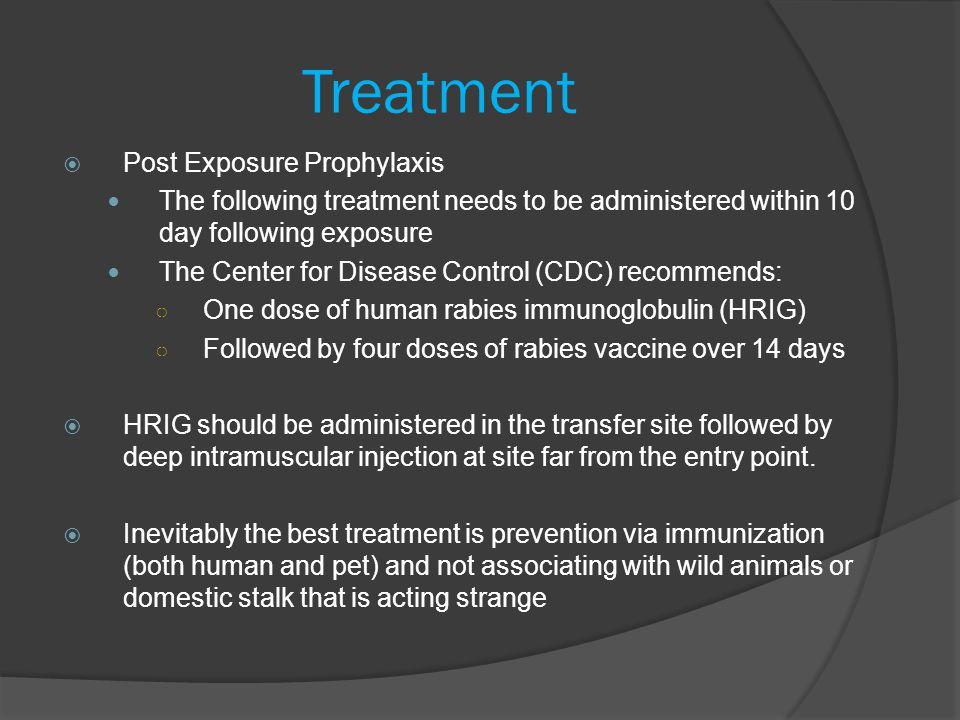 Treatment Post Exposure Prophylaxis