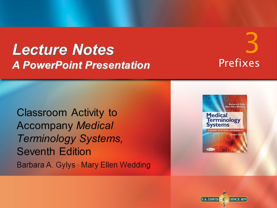 3 Lecture Notes A PowerPoint Presentation Prefixes
