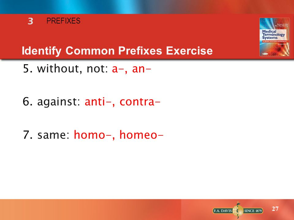Identify Common Prefixes Exercise