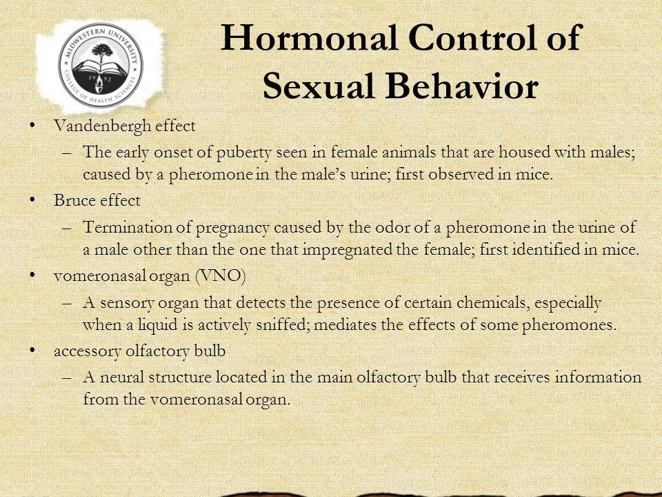 Hormonal Control of Sexual Behavior
