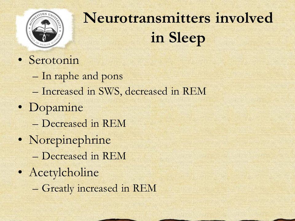 Neurotransmitters involved in Sleep