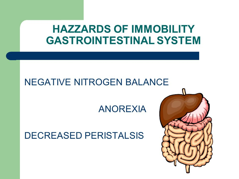HAZZARDS OF IMMOBILITY GASTROINTESTINAL SYSTEM
