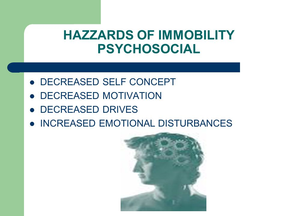 HAZZARDS OF IMMOBILITY PSYCHOSOCIAL