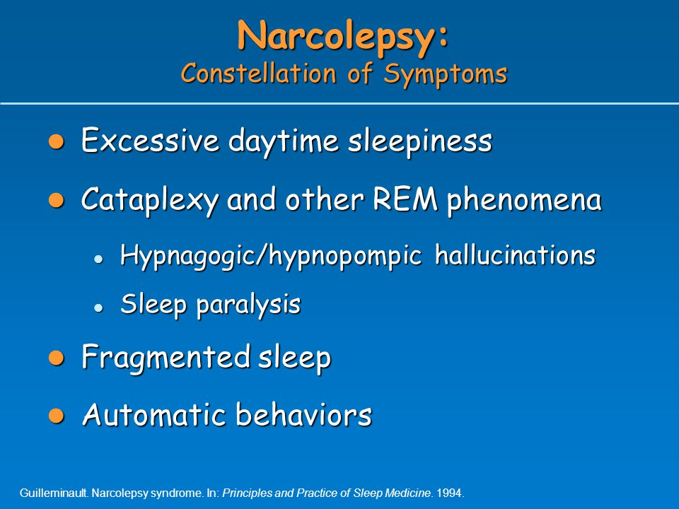 Narcolepsy: Constellation of Symptoms